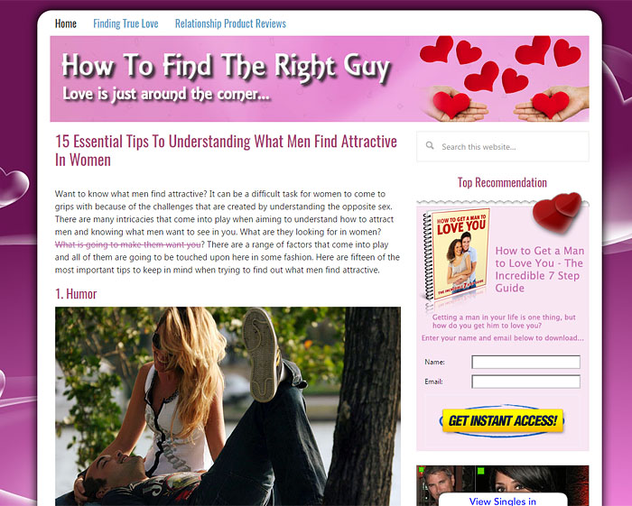 HowToFindTheRightGuy.com