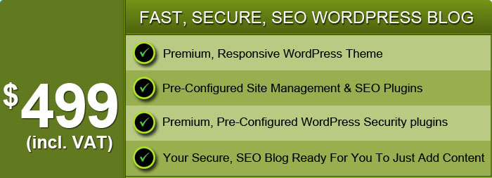 Order a Fast, Secure, SEO WordPress Blog Today